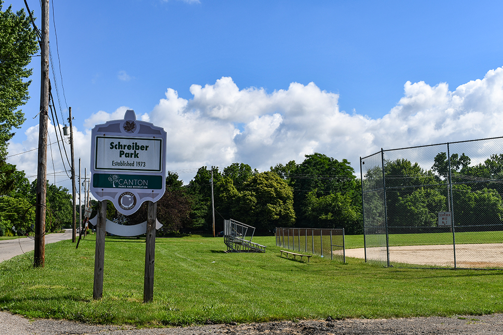 Schreiber Park Sign Canton Parks & Rec